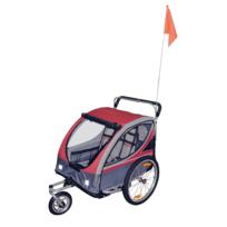 RUE DU COMMERCE - Remorque à vélo pour enfants avec frein 2-en-1