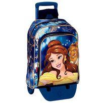 Princesses Disney - Sac à dos à roulettes Princesse Bella 43 Cm trolley Haut de Gamme - Cartable