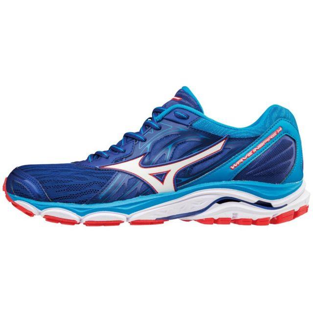 more photos 5278a 3d164 Mizuno - Mizuno Wave Inspire 14 Bleue Chaussures de running homme