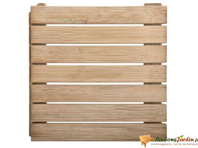 JARDIPOLYS Dalle de terrasse en bois autobloquante 50