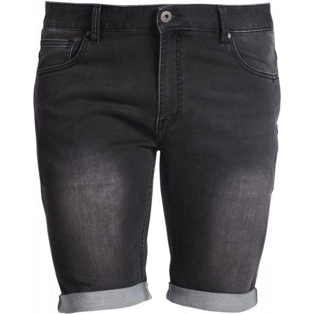 Allsize Short jean noir effet délavé