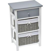 meuble en bois blanc - Achat meuble en bois blanc pas cher - Rue du ...