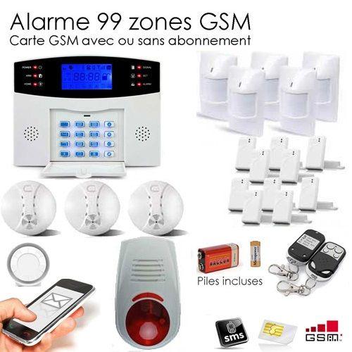 alarme maison sans fil gsm 99 zones xxl