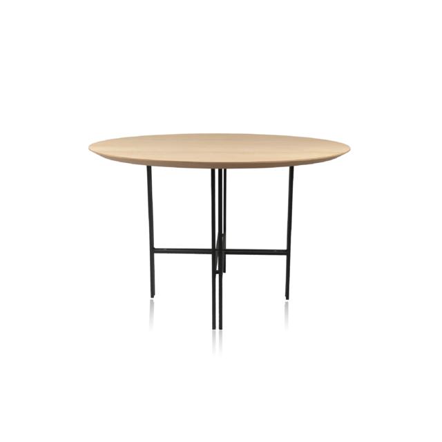 HELLIN TABLE RONDE MODERNE EN BOIS ET METAL - BRIGHTON