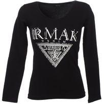 Irmak - Tee shirt manches longues Triangle denim noir Noir 74003