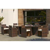 Pied table rabattable reglable achat pied table rabattable reglable pas cher rue du commerce - Salon de jardin tresse couleur chocolat ...