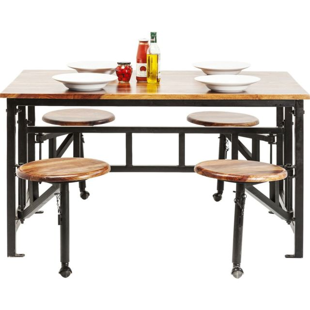 Karedesign Table avec tabourets Space Kare Design