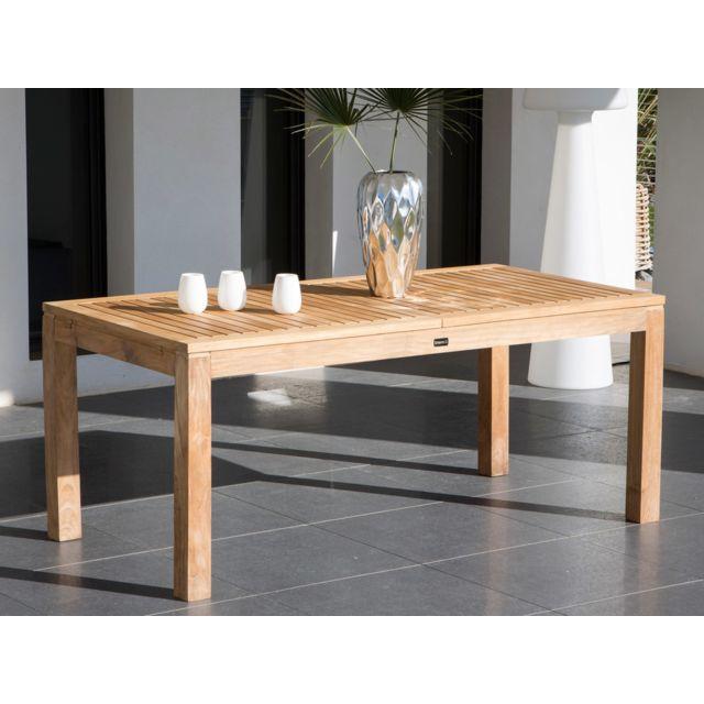 Dlm - Table de jardin extensible en Teck Brut 180/240x90cm 6 à 8 ...