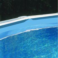 Gré - Liner bleu uni pour piscine ovale de 500x300x120