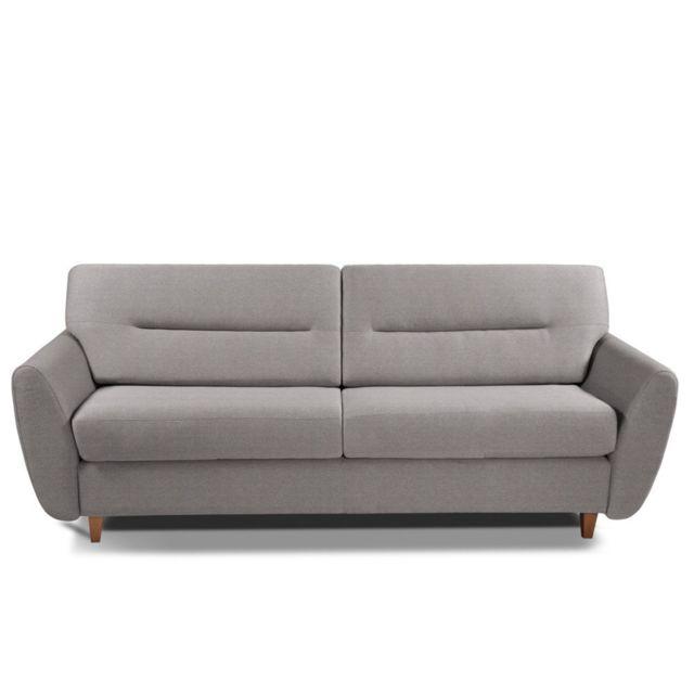inside 75 canap convertible copenhague 140cm matelas 14cm ouverture rapido sommier lattes. Black Bedroom Furniture Sets. Home Design Ideas