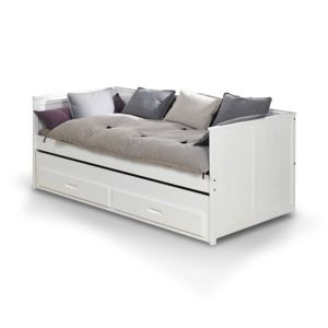 ik idkid 39 s lit gigogne avec tiroir lit 90x200 blanc. Black Bedroom Furniture Sets. Home Design Ideas