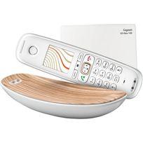GIGASET - Téléphone sans fil Sculpture CL750 Blanc Zebra