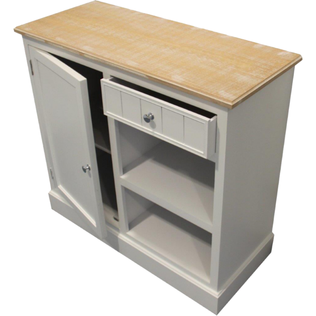 Paolo Collaner Commode en bois blanche 88 cm