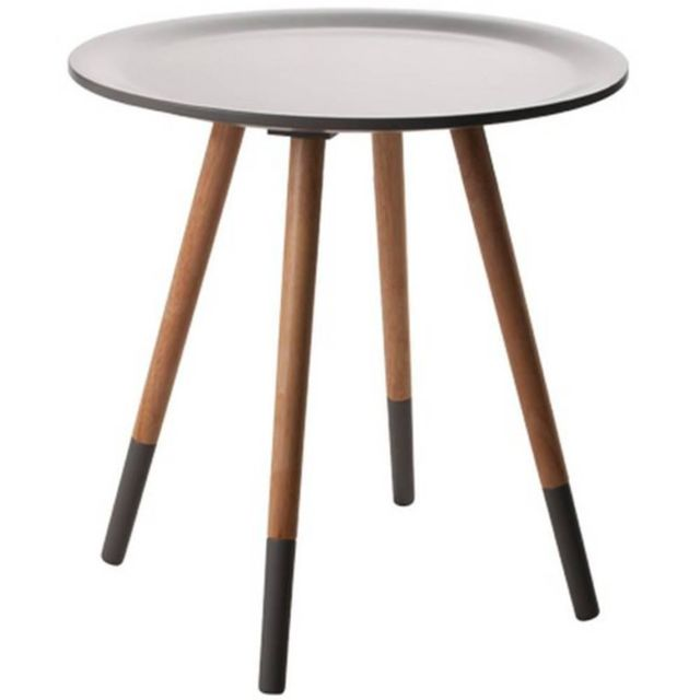 Inside 75 Zuiver Table basse Two Tone, grise et noire