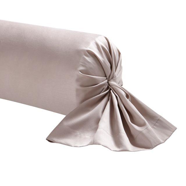 Taie de traversin Triumph Line Satin de coton Blanc 43 x 230 cm Essix