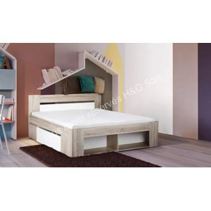 House and garden lit 160x200 contemporain avec rangements dolce pas che - Lit contemporain 160x200 ...