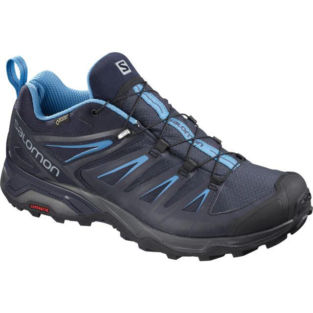 Randonnée Ultra Salomon Gtx Bleue 3 De Noire Et X Chaussures WIE29DHY