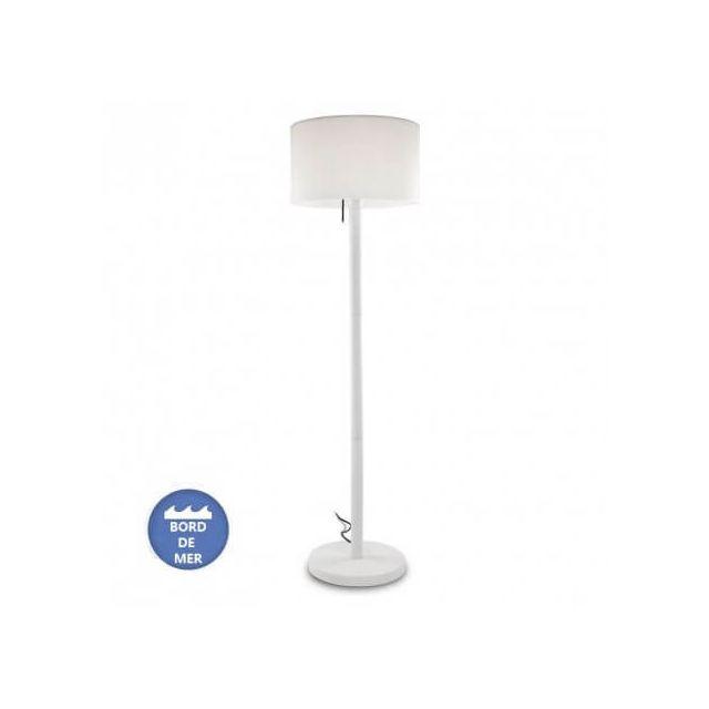 Leds C4 Lampe à poser extérieur Smooth Ip44 H175 cm - Blanc