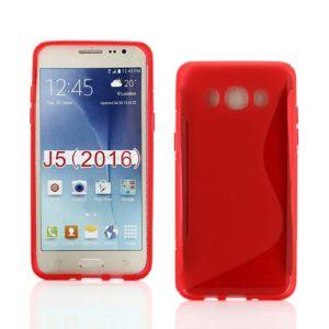 Lapinette - Coque Gel Vague S Pour Samsung Galaxy J5 2016 - Rouge