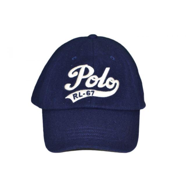 dbeef2d644a16a Ralph Lauren - Casquette en laine polo bleu marine pour homme Taille unique  - pas cher Achat   Vente Casquettes, bonnets, chapeaux - RueDuCommerce