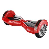 SmoothTech - Hoverboard Scooter electrique auto-équilibrage 8,0 inch rouge à patins noirs Gyropode skate Self Balancing smart board