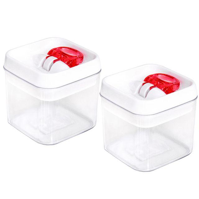 Touslescadeaux 2 Boîtes de Conservation Alimentaires Hermétiques avec Couvercle - 0,4 litres