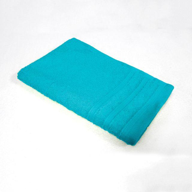 Douceur D'INTERIEUR Cdaffaires Serviette invite 30 x 50 cm eponge unie vitamine Turquoise