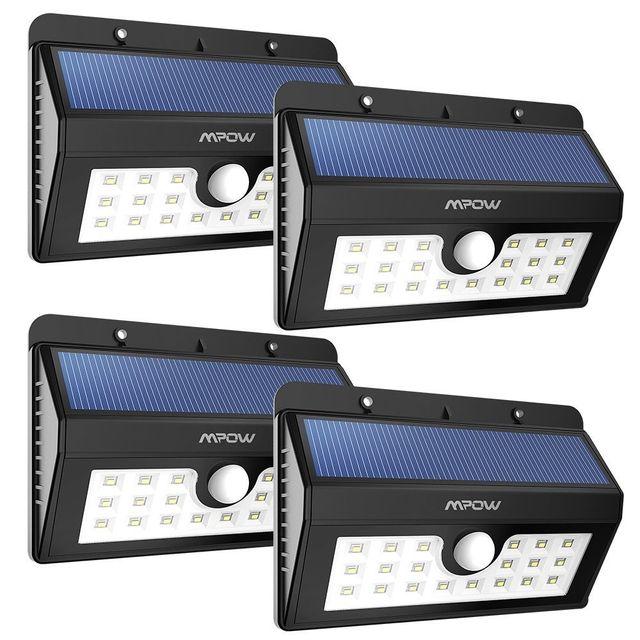 Alpexe - 4 Pack, 20 Lampe Solaire Jardin led sans fil, Luminaire ...