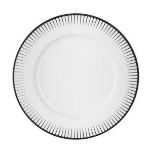 chef sommelier assiette plate blanche 28 5cm en porcelaine avec motifs en relief noir. Black Bedroom Furniture Sets. Home Design Ideas