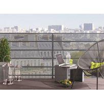 Nortene - Brise vue pour clôture Citynet en rouleau 1.00 x 3 m Gris alu