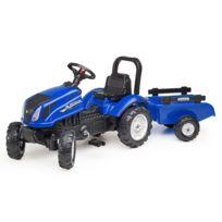 Falk - Tracteur New Holland T6 + remorque