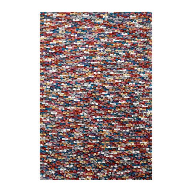 deladeco tapis naturel en laine feutr e pais pour salon multicolore missi pas cher achat. Black Bedroom Furniture Sets. Home Design Ideas