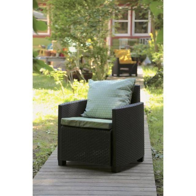 Coussin D\'EXTERIEUR - Coussin De Bain De Soleil - Coussin De Chaise De  Jardin Set de 2 coussins Assise + Dossier pour salon de jardin Helsinki -  54 x ...