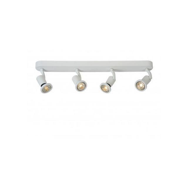 Lucide Jaster-led - Spot Plafond - Led - Gu10 - 4x5W 2700K - Blanc