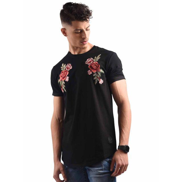 Project X Tee shirt semi oversize brodé rose Homme Paris