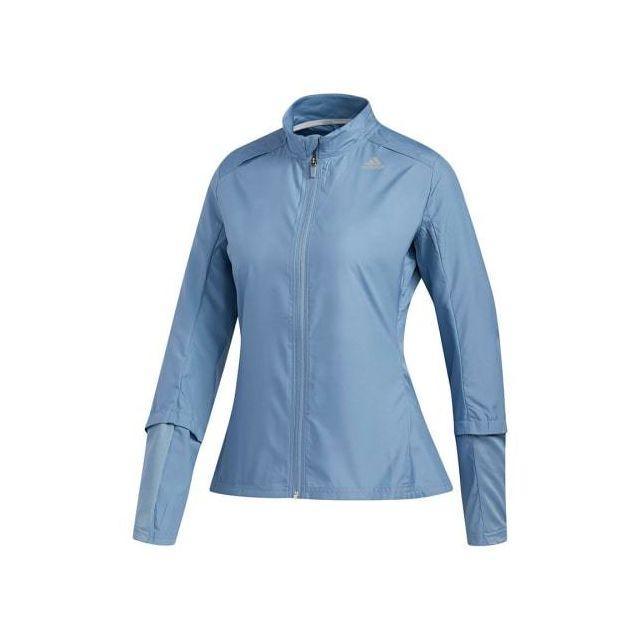 Adidas - Veste Response Wind bleu femme -
