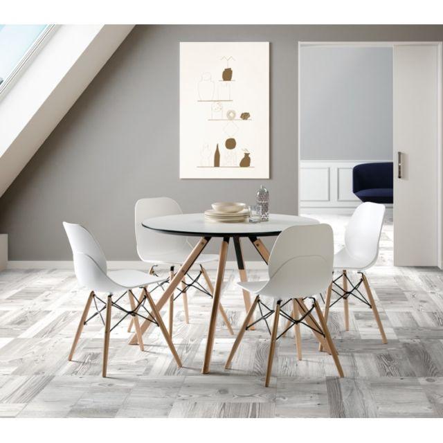 Tousmesmeubles Table de repas Ronde 120 cm - Hector