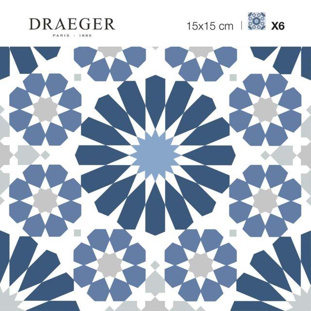 Nouvelles Images Carres Adhesifs Motif Azulejos Bleu Et Blanc Pas Cher Achat Vente Decor Carrelage Mural Rueducommerce
