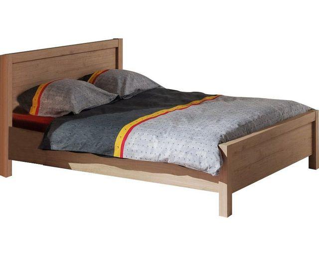 comforium lit 140x200 cm avec t te de lit int gr e. Black Bedroom Furniture Sets. Home Design Ideas