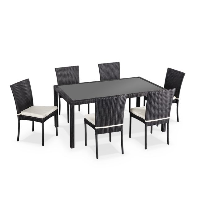 grande table chaises resine tressee - Achat grande table chaises ...