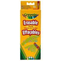 Crayola - Crayons 10 crayons de couleur effaçables