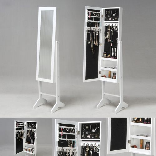 Miroir coffre à bijoux BIANCA / Blanc