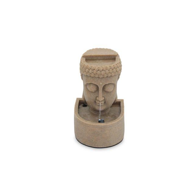 Fontaine tête de bouddha - Gris