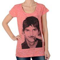 Eleven Paris - Tee Shirt Kuty W Ashton Kutcher Rouge Georgia Peach