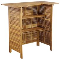 Meubles de jardin reference Luanda Icaverne Table de bar Bois d\'acacia  massif 110 x 50 x 105 cm