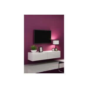 chloe design meuble tv design suspendu vito 140cm blanc pas cher achat vente meubles tv. Black Bedroom Furniture Sets. Home Design Ideas