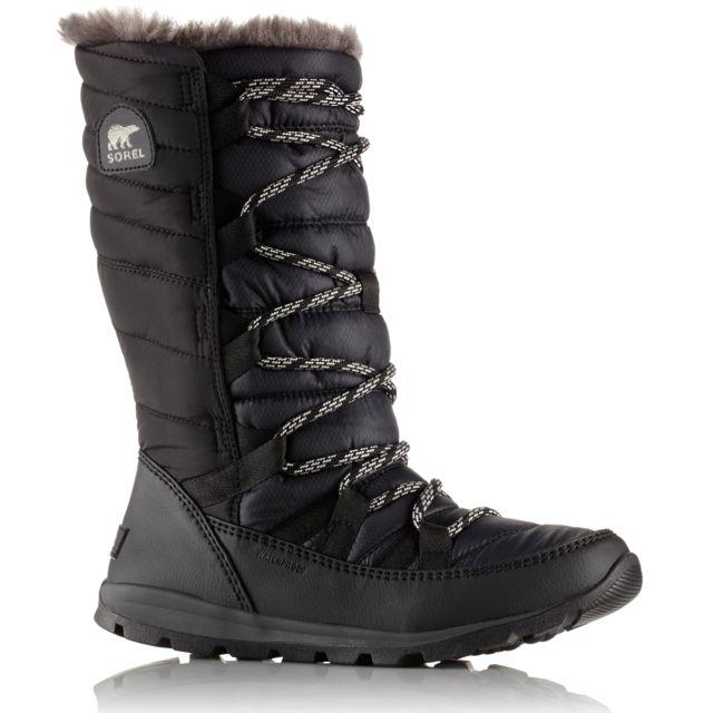 cacb072e25f5 Sorel - Whitney Lace - Bottes Enfant - noir - pas cher Achat   Vente  Chaussures grande rando - RueDuCommerce