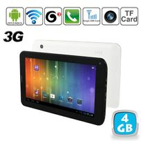 Yonis - Tablette tactile 3G Android 4.0 7 pouces Gsm WiFi 3D Hd 4 Go Blanc