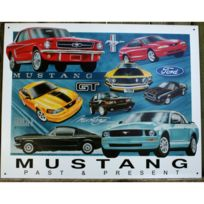 Universel - plaque ford mustang past   present deco tole garage loft bar a8baa626707a