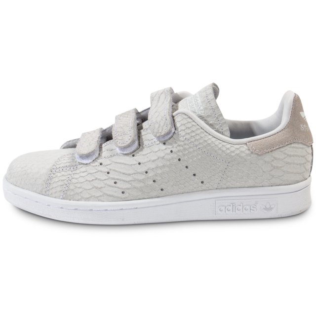 Adidas originals - Stan Smith Cf Velcro Grise - Tennis Femme